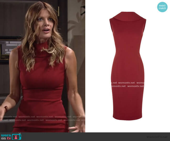 High Neck Pencil Dress by Karen Millen worn by Phyllis Summers (Michelle Stafford) on The Young & the Restless