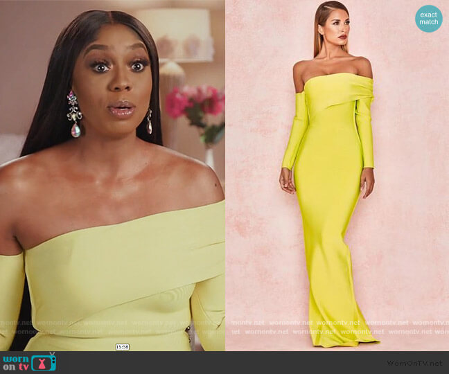 Nalani Dress by House of CB worn by Wendy Osefo  on The Real Housewives of Potomac