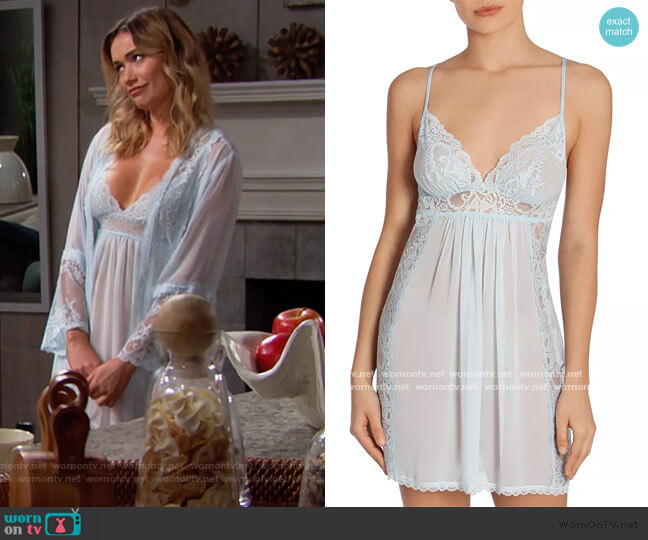 Lace Chemise Nightgown by In Bloom by Jonquil worn by Florence (Katrina Bowden) on The Bold & the Beautiful