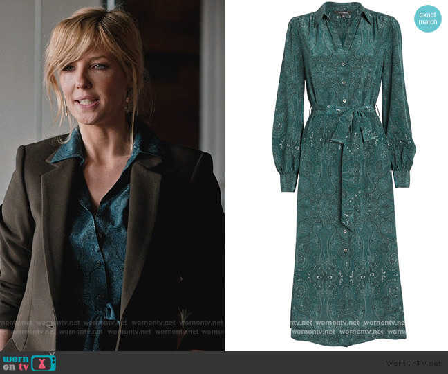 Juliana Print Shirtdress by Intermix worn by Beth Dutton (Kelly Reilly) on Yellowstone