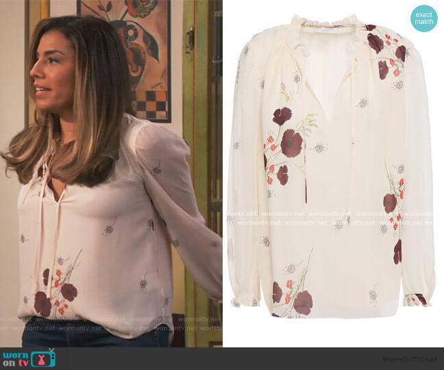 Rafaella Silk Top by Joie worn by Jo (Christina Vidal Mitchell) on United We Fall