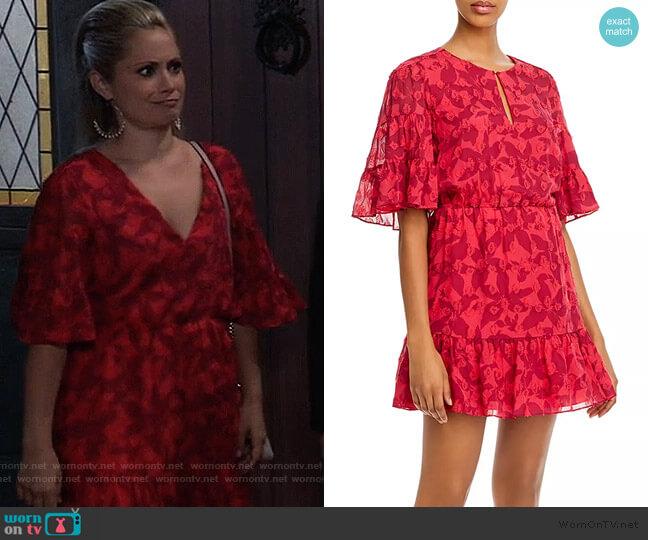 Tersea Silk-Blend Embroidered Ruffled Mini Dress by Joie worn by Lulu Spencer Falconeri (Emme Rylan) on General Hospital