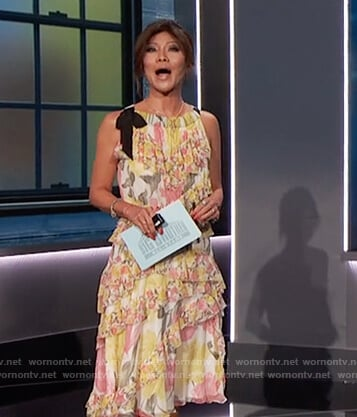 Julie's floral ruffle dress on Big Brother