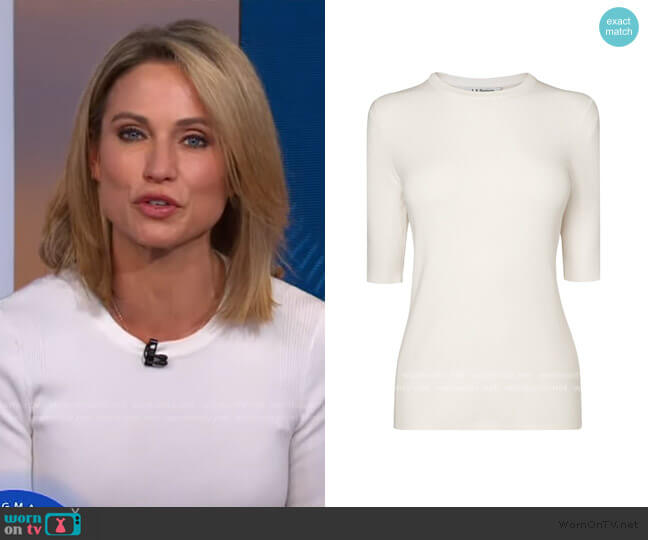 Tomasi Knit T-Shirt by L.K. Bennett worn by Amy Robach  on Good Morning America