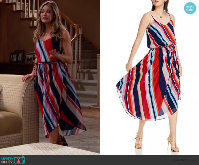 Kim Striped Dress by Lini worn by Shauna Fulton (Denise Richards) on The Bold & the Beautiful