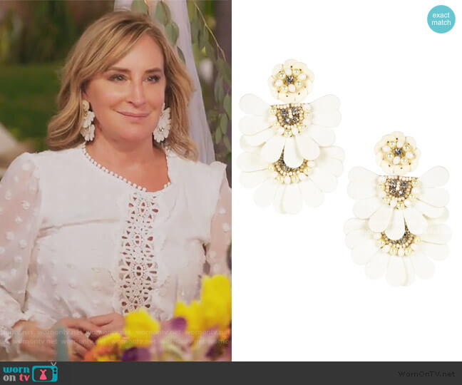 Natalie Earrings by Lisi Lerch worn by Sonja Morgan  on The Real Housewives of New York City