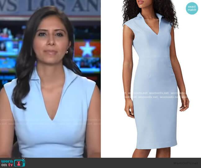 London Sheath Dress by Black Halo worn by Zohreen Shah on GMA