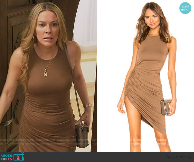 Eva Midi Dress by Lovers + Friends worn by Leah McSweeney  on The Real Housewives of New York City