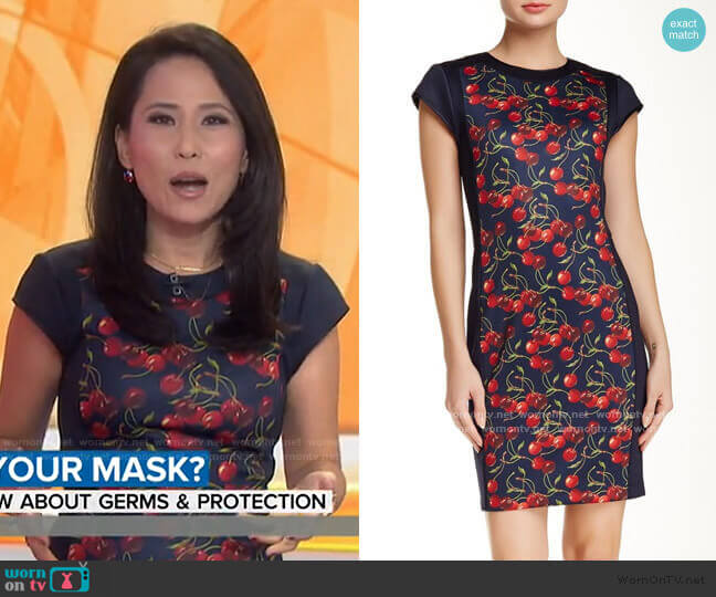 Luski Printed Bodycon Dress by Ted Baker worn by Vicky Nguyen on Today Show