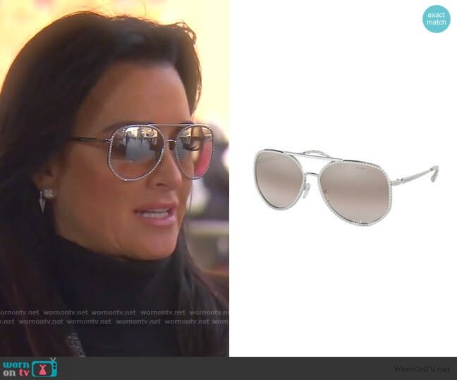 Miami MK1039B Sunglasses by Michael Kors worn by Kyle Richards  on The Real Housewives of Beverly Hills