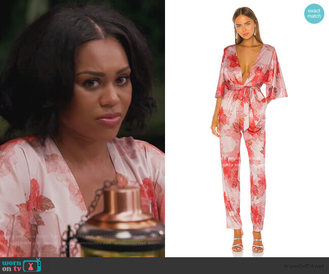 x REVOLVE Fallene Jumpsuit by Michael Costello worn by Monique Samuels  on The Real Housewives of Potomac