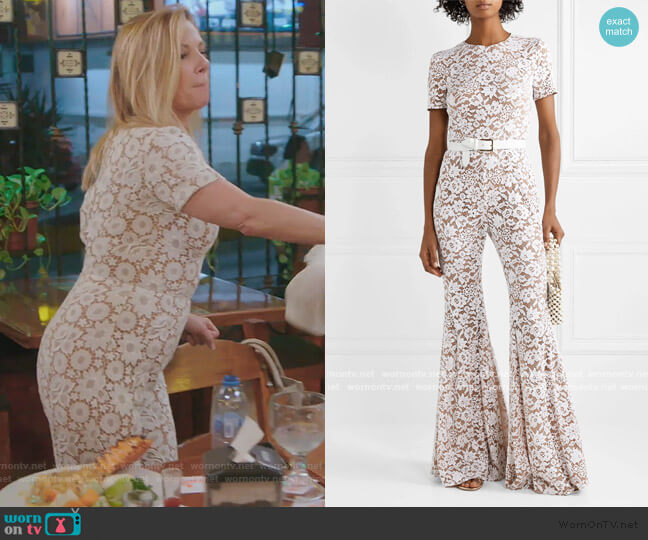 Guipure lace jumpsuit by Michael Kors worn by Ramona Singer  on The Real Housewives of New York City