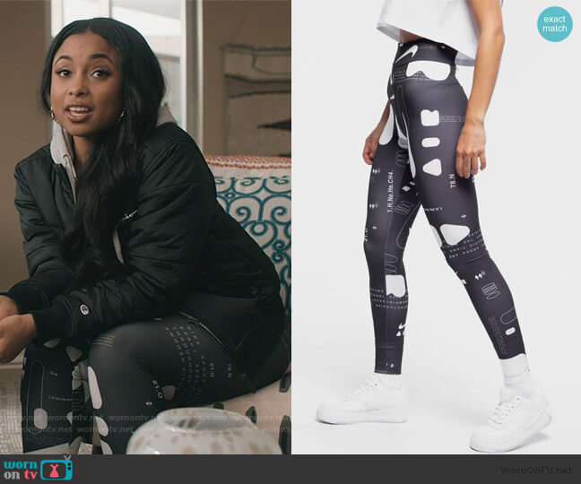 Printed Leggings by Nike