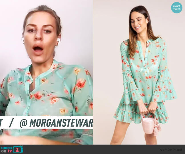 Leora Cover Up by Paloma Blue worn by Morgan Stewart  on E! News