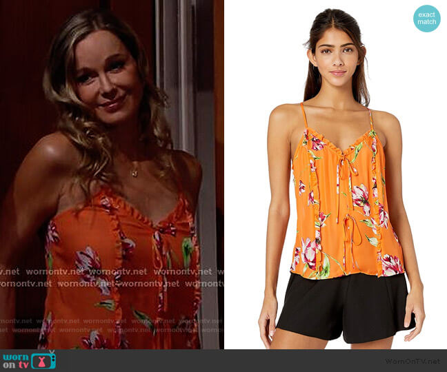 Rubina Floral Ruffle Top by Parker worn by Donna Logan (Jennifer Gareis) on The Bold & the Beautiful
