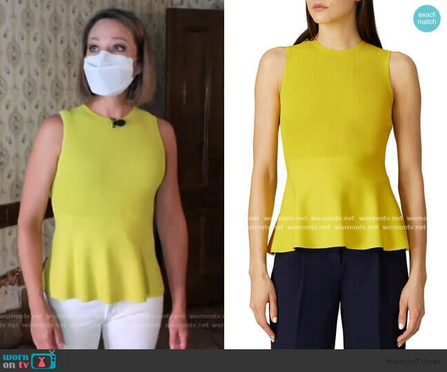 Peplum Top by Theory worn by Dylan Dreyer  on Today