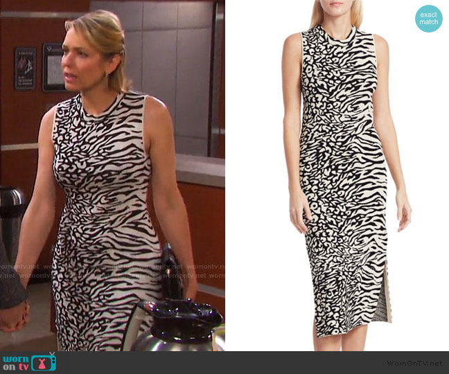 Animal Mix Jacquard Dress by Proenza Schouler White Label worn by Nicole Walker (Arianne Zucker) on Days of our Lives
