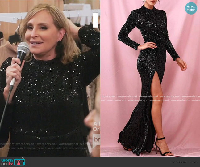 Glisten To Me Maxi Dress by Sonja worn by Sonja Morgan  on The Real Housewives of New York City