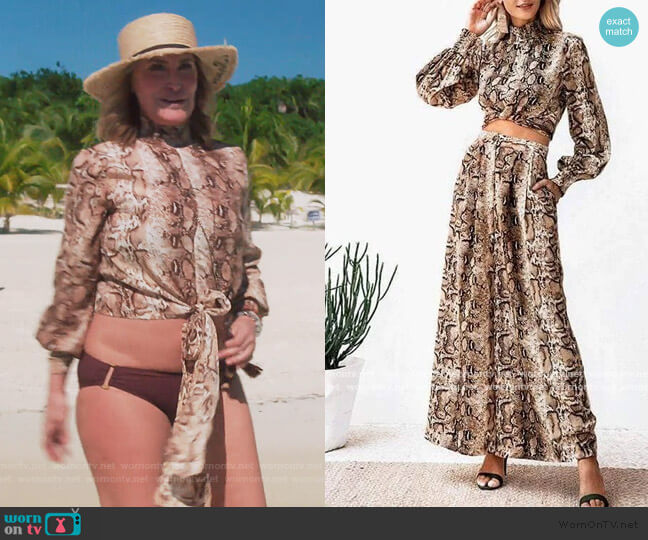 Jane Snake Two Piece Set by Sonja worn by Sonja Morgan  on The Real Housewives of New York City