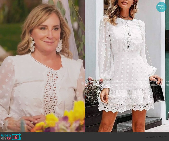 Jillian Lace Mini Dress by Sonja worn by Sonja Morgan  on The Real Housewives of New York City