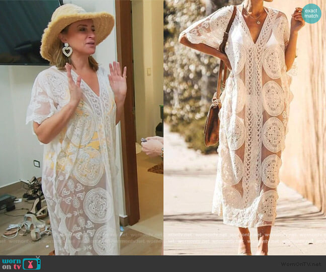 Noelle Cover Up by Sonja worn by Sonja Morgan  on The Real Housewives of New York City