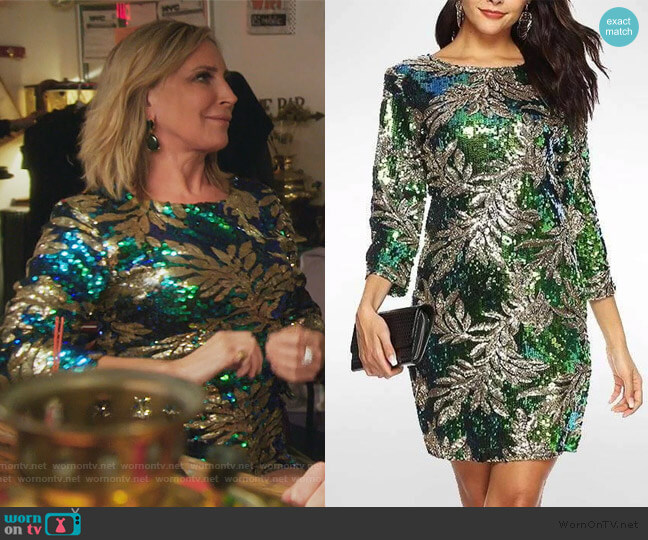 Olympia Sequin Dress by Sonja worn by Sonja Morgan  on The Real Housewives of New York City