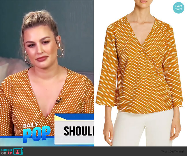 Printed Faux-Wrap Top by Status by Chenault worn by Carissa Loethen Culiner  on E! News