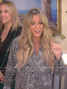 Teddi's black dotted shirtdress on The Real Housewives of Beverly Hills