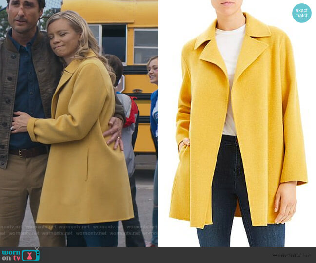 Double Faced Overlay Coat by Theory worn by Barbara Whitmore (Amy Smart) on Stargirl