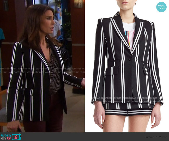 Vakila Blazer by Maje worn by Hope Williams (Kristian Alfonso) on Days of our Lives