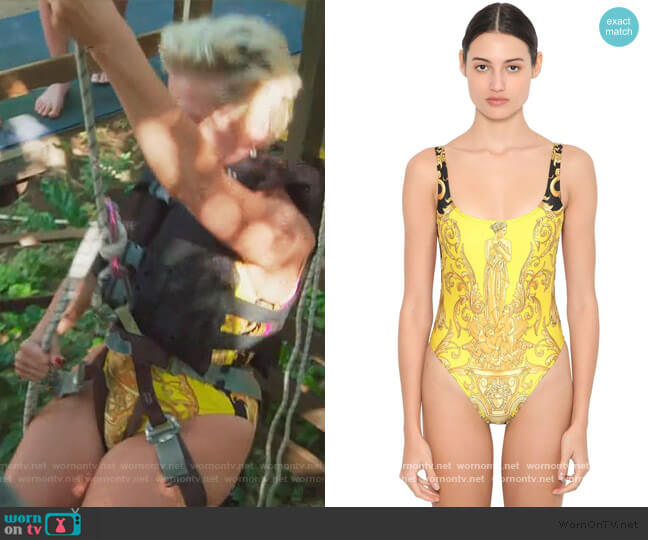 Lycra One Piece Swimsuit by Versace worn by Dorinda Medley  on The Real Housewives of New York City