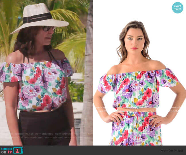 Salsa Top by Walker and Wade worn by Luann de Lesseps  on The Real Housewives of New York City