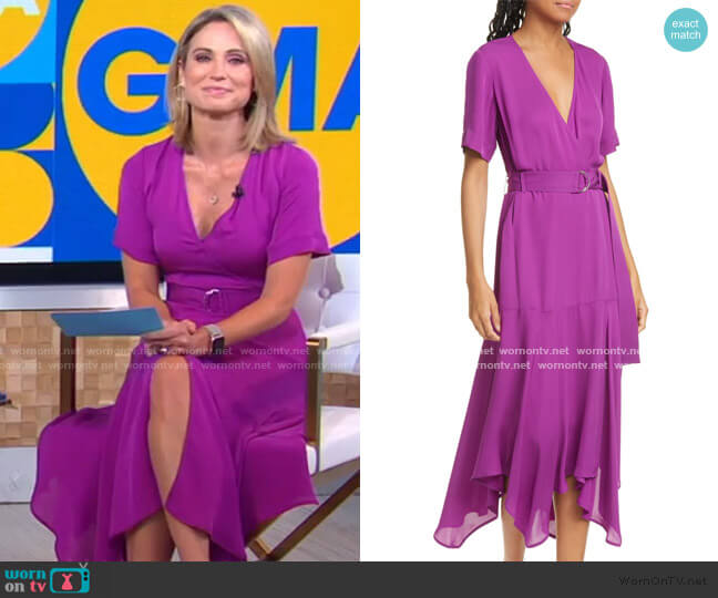 Claire Dress by A.L.C. worn by Amy Robach  on Good Morning America