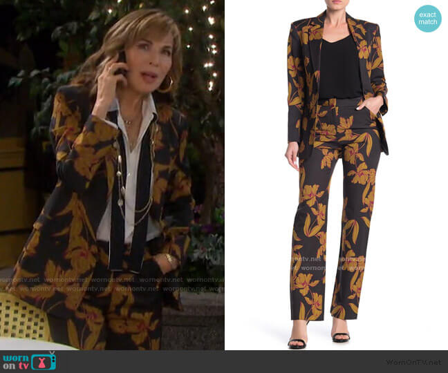 A.L.C. Vernay Floral Blazer and Vaughn Trousers worn by Kate Roberts (Lauren Koslow) on Days of our Lives