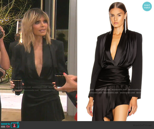 Blazer Hybrid Bodysuit by Alexander Wang worn by Lisa Rinna  on The Real Housewives of Beverly Hills