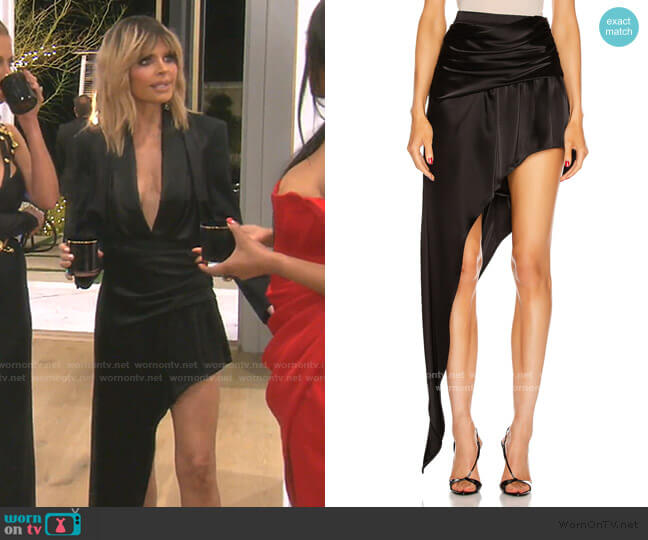Asymmetric Floor-Length Skirt by Alexander Wang worn by Lisa Rinna  on The Real Housewives of Beverly Hills