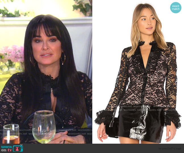 Inna Top by Alexis worn by Kyle Richards  on The Real Housewives of Beverly Hills