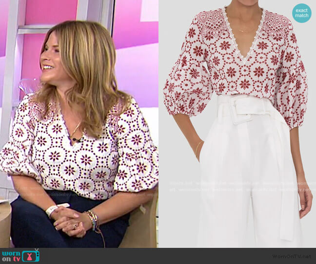 Lanai Top by Alexis worn by Jenna Bush Hager  on Today