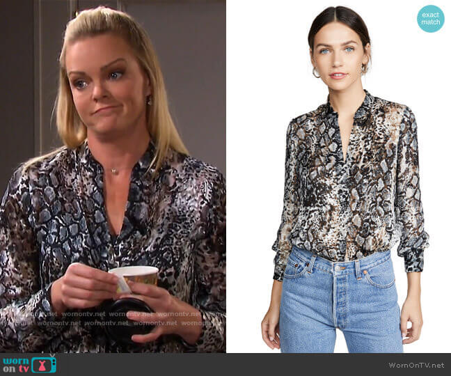 Amos Tunic by Alice + Olivia worn by Belle Brady (Martha Madison) on Days of our Lives