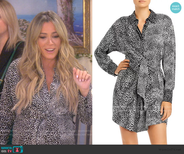Jodi Shirt Dress by Alice + Olivia worn by Teddi Mellencamp Arroyave  on The Real Housewives of Beverly Hills