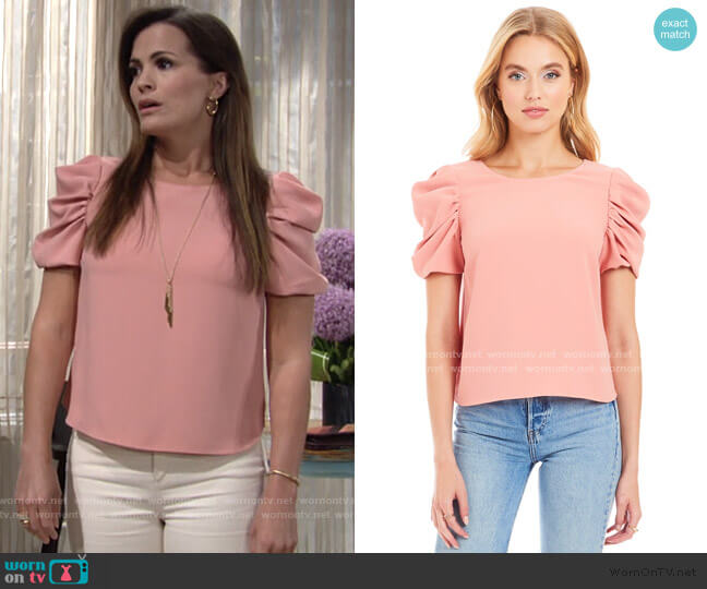 Merris Top by Amanda Uprichard worn by Chelsea Lawson (Melissa Claire Egan) on The Young & the Restless
