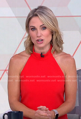 Amy's red halter dress on Good Morning America