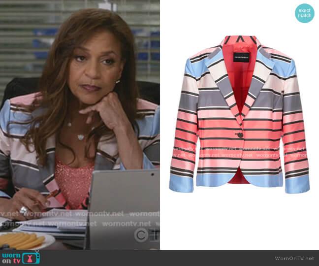 Taffeta Jacket by Emporio Armani worn by Catherine Avery (Debbie Allen) on Greys Anatomy