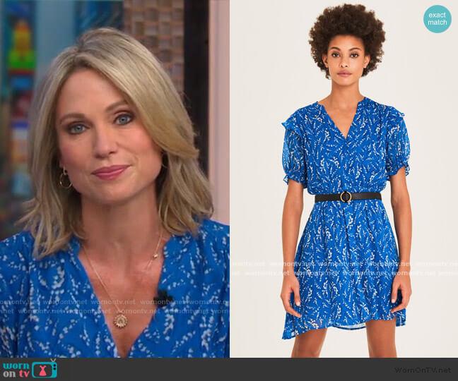 Matcha Short Printed Dress by Ba&Sh worn by Amy Robach  on Good Morning America