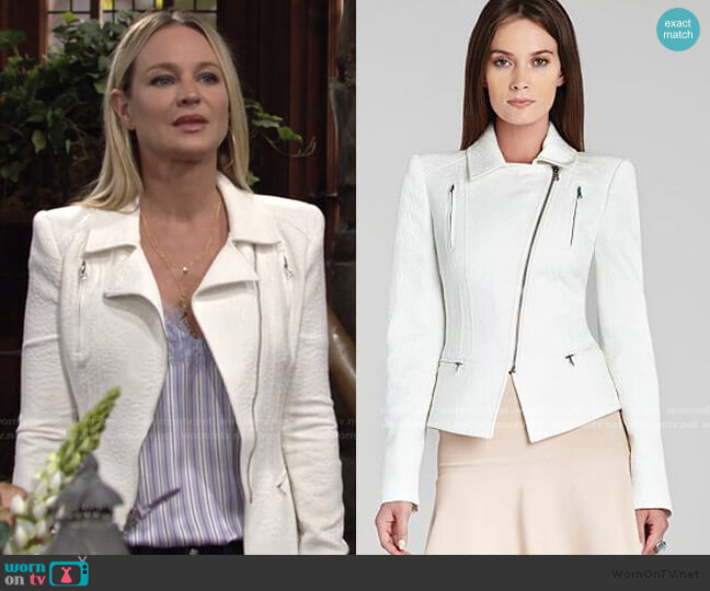 Boe Jacket by Bcbgmaxazria worn by Sharon Collins (Sharon Case) on The Young & the Restless