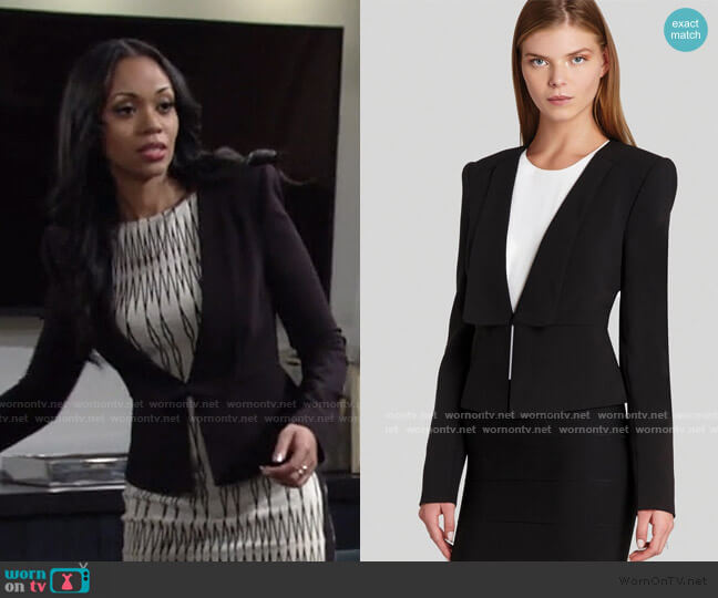 Penn Relaxed Blazer by Bcbgmaxazria worn by Amanda Sinclair (Mishael Morgan) on The Young & the Restless