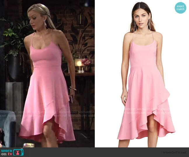 Marie Dress by Black Halo worn by Abby Newman (Melissa Ordway) on The Young & the Restless