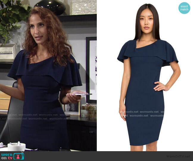 Ollie Sheath Dress by Black Halo worn by Lily Winters (Christel Khalil) on The Young & the Restless