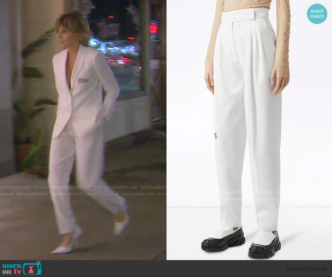 Location Print Trousers by Burberry worn by Lisa Rinna  on The Real Housewives of Beverly Hills