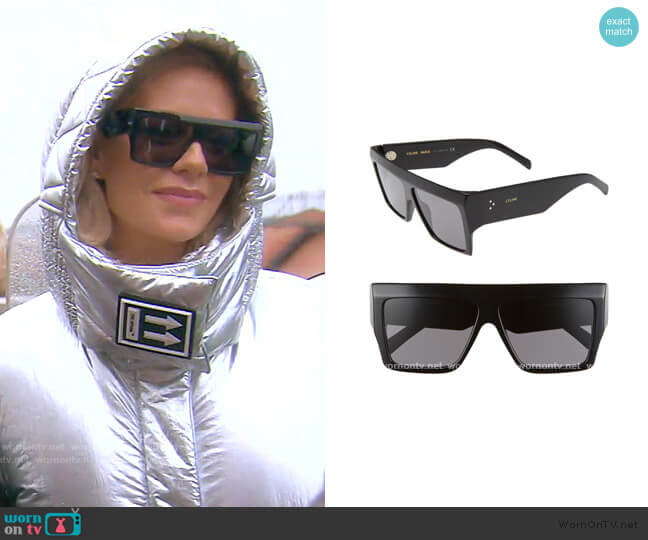 Flat Top Sunglasses by Celine worn by Dorit Kemsley  on The Real Housewives of Beverly Hills